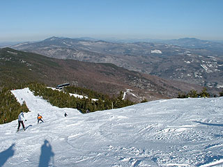 The exhilarating terrain and views from atop Sugarbush's Mount Ellen